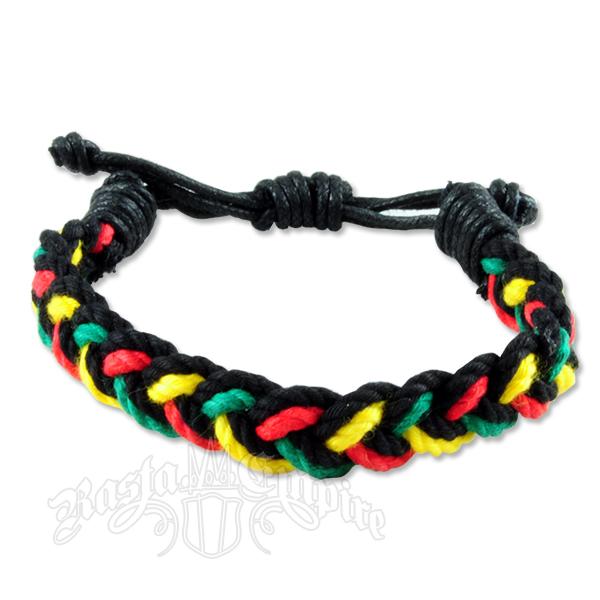 rasta braided rope cord bracelet rastaempire