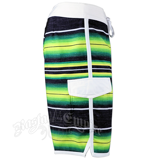 Jamaican Stripe Boardshorts - Men's
