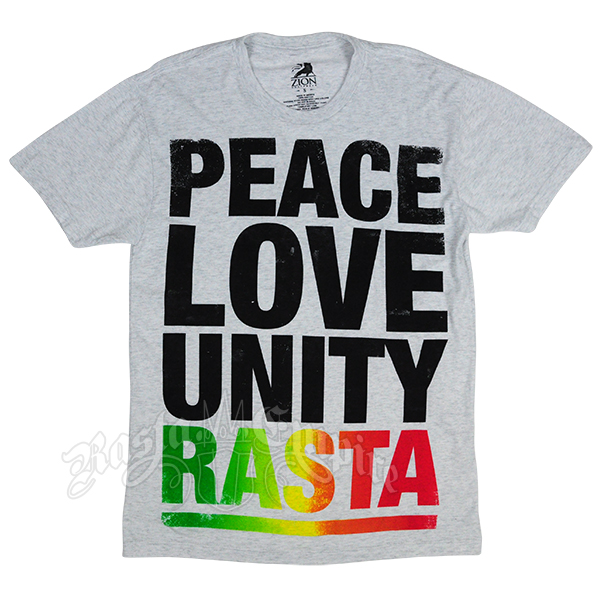 Peace Love and Unity Heather Grey T-shirt - Men's