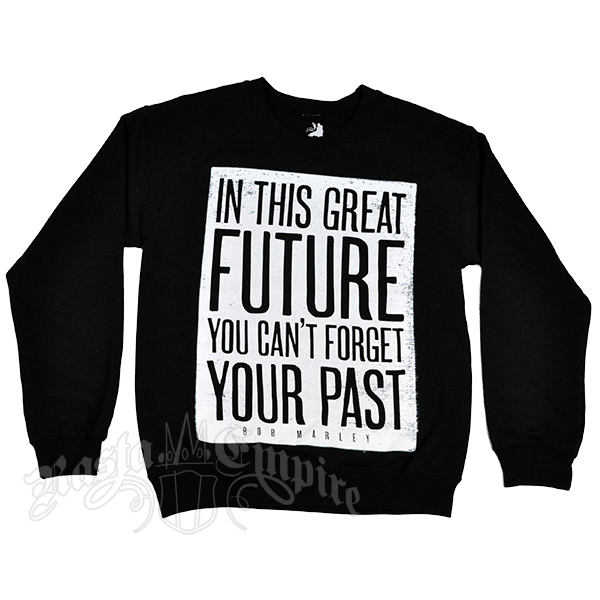 Bob Marley Great Future Lyrics Black Crew Neck Fleece – Men's