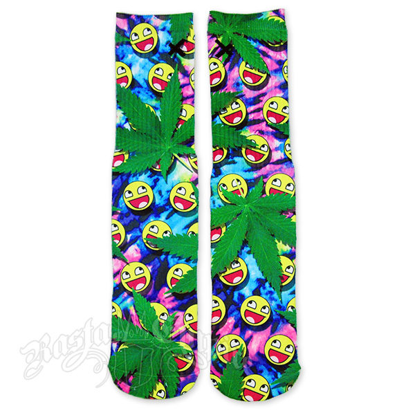 Trippy Happy Face Socks