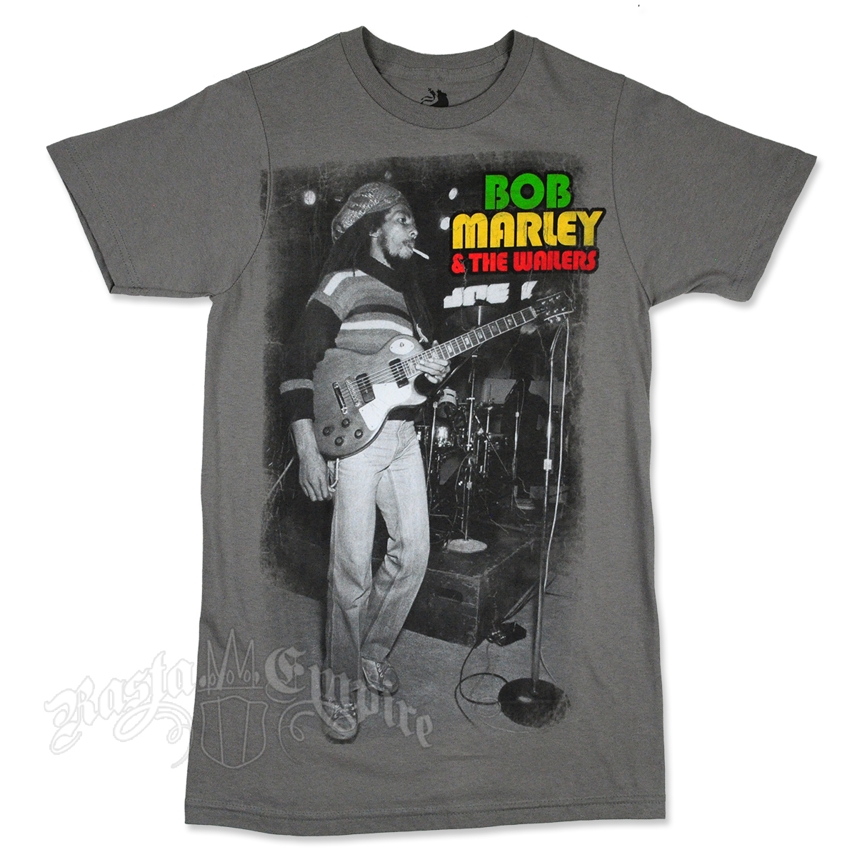 Bob Marley and the Wailers Stage Smoking Grey T-Shirt - Men's