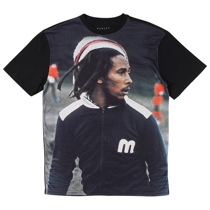 adc41aec3 Bob Marley Soccer Competitor Black T-Shirt – Men s at RastaEmpire.com