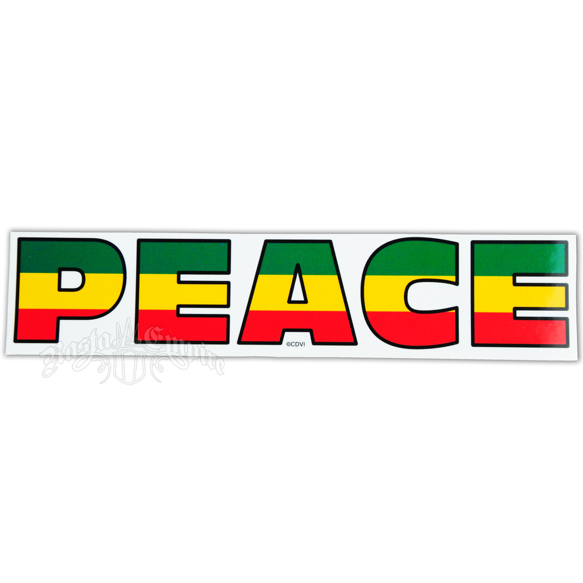 Rasta Peace Sticker