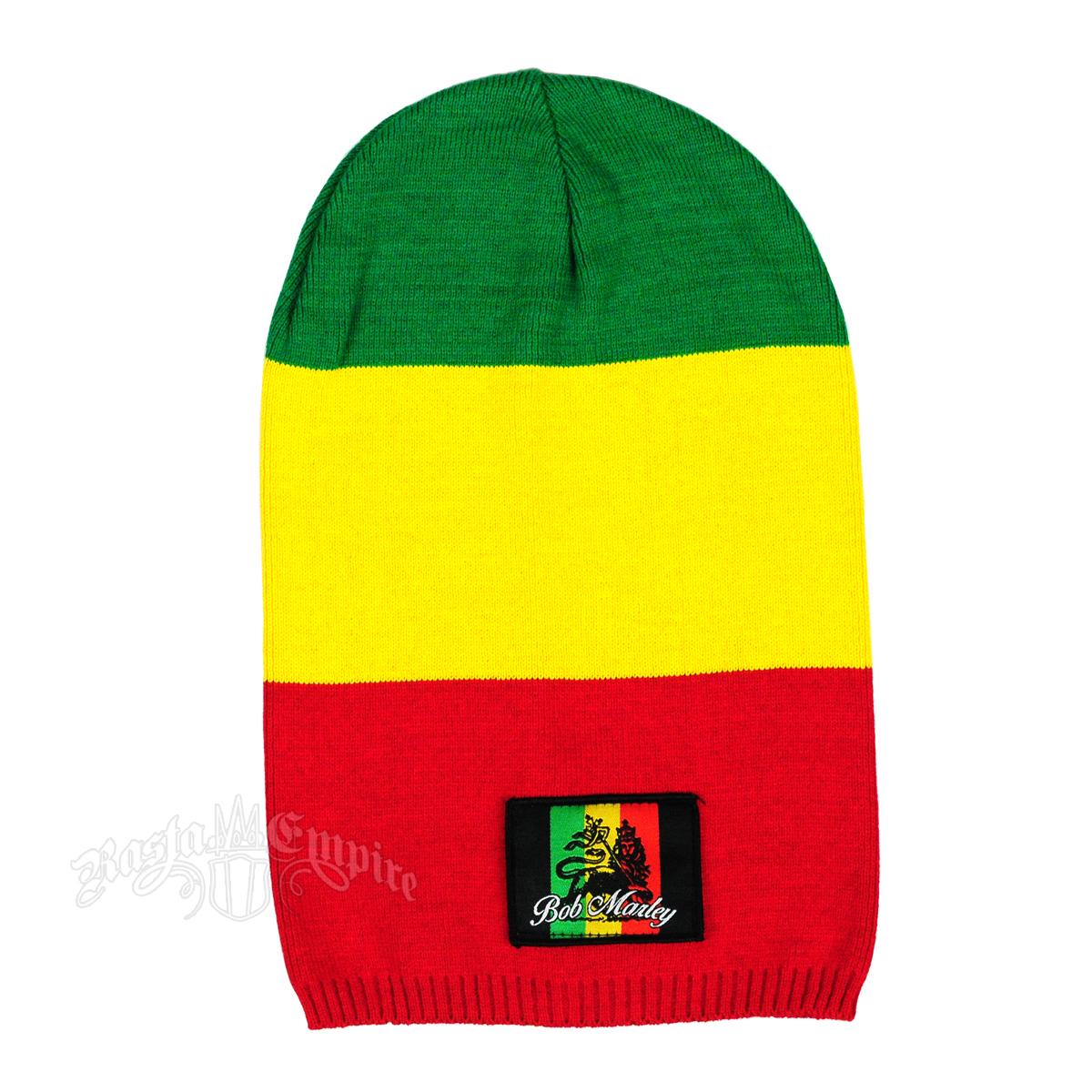 c2f3cfa8f7e21 Bob Marley Rasta Block Stripe Long Beanie   RastaEmpire.com