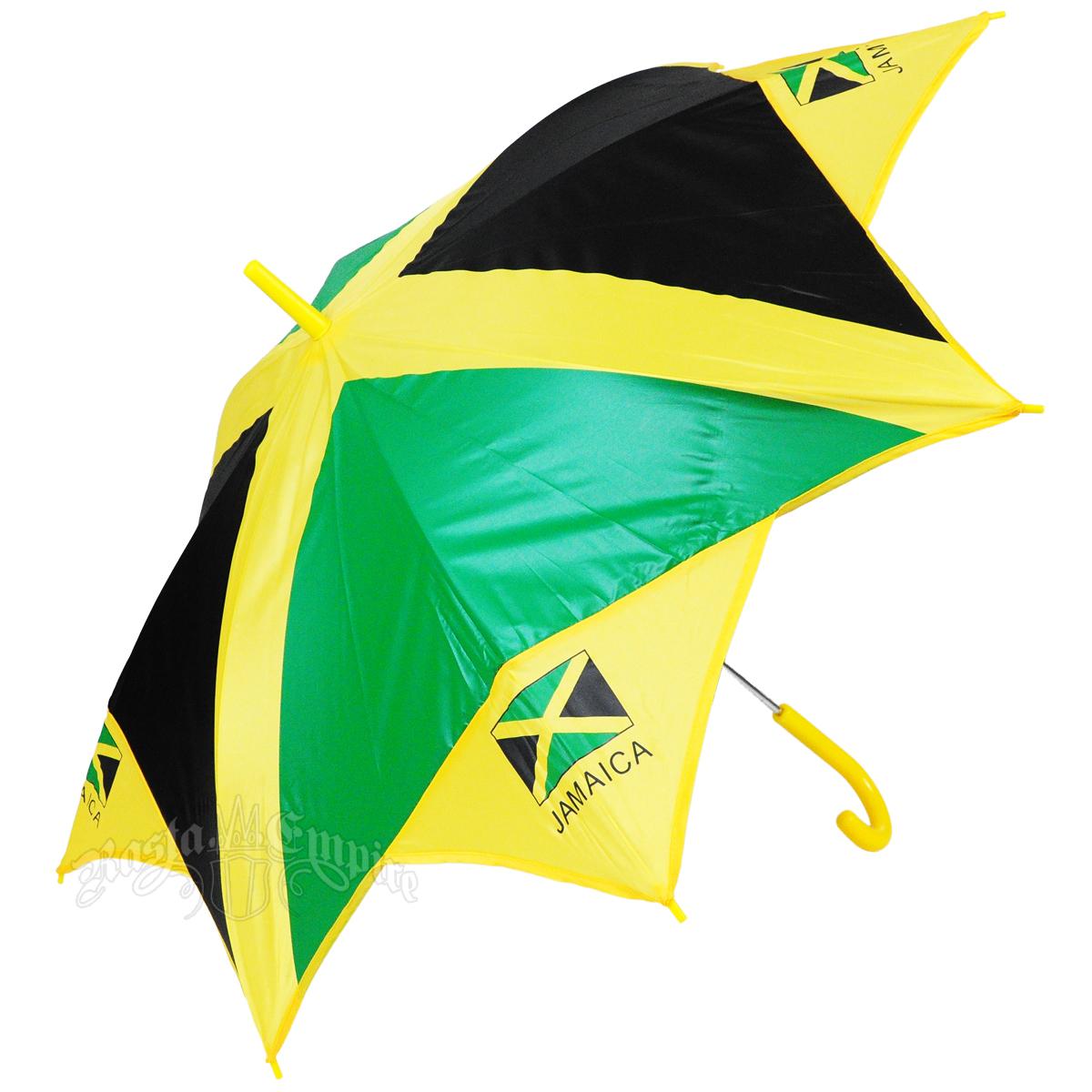 Jamaica Flag Long Umbrella @ RastaEmpire.com