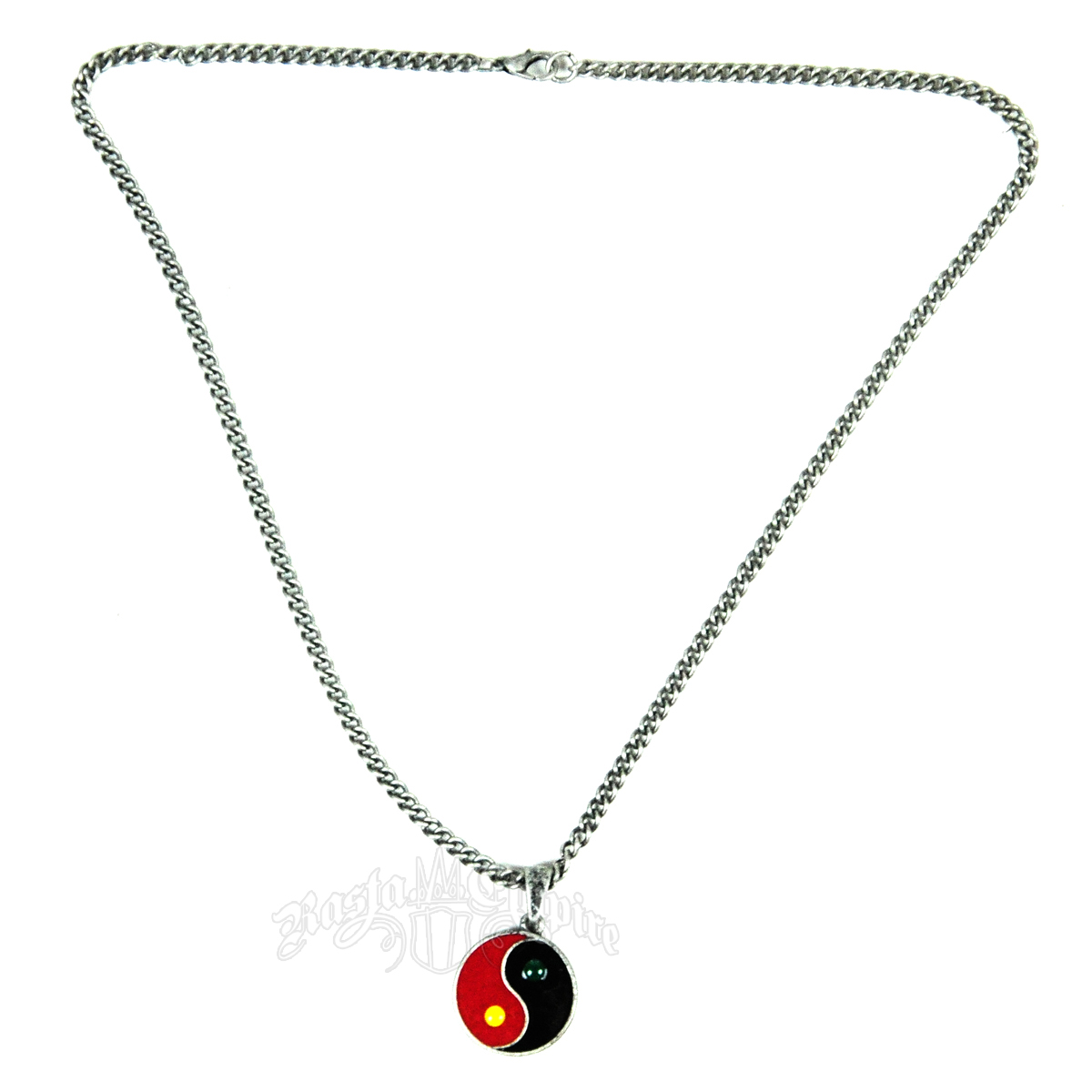 Rasta Ying Yang Necklace