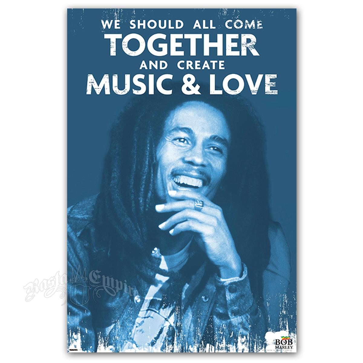 "Bob Marley Music & Love Poster 24"" X 36"""