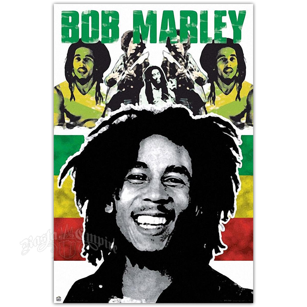 "Bob Marley Rasta Poster 24"" X 36"" @ RastaEmpire.com"