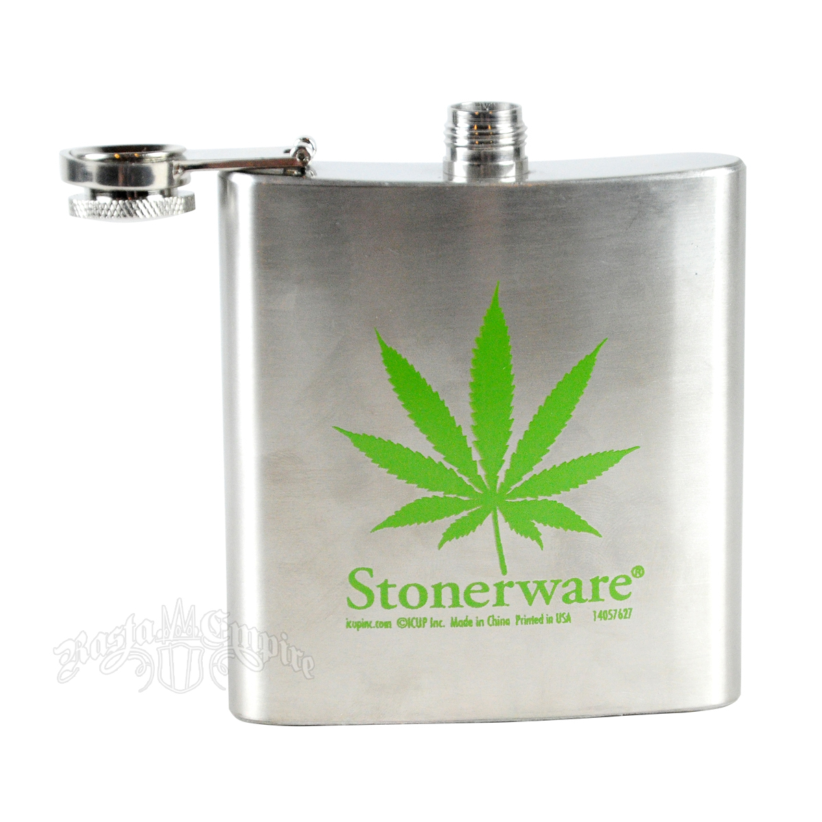 Stonerware Marijuana Leaf Flask
