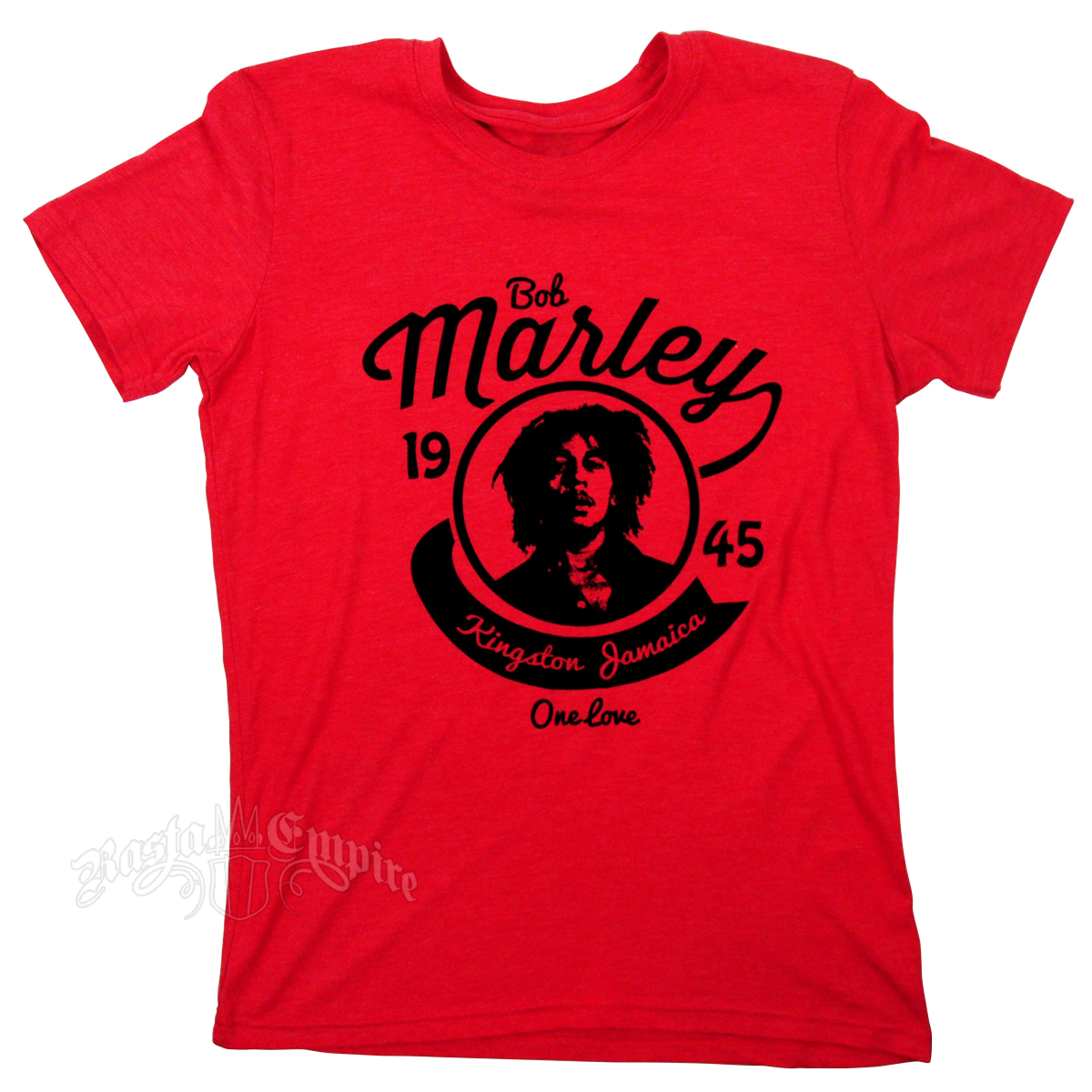 Bob Marley 1945 One Love Heather Red T-Shirt - Men's