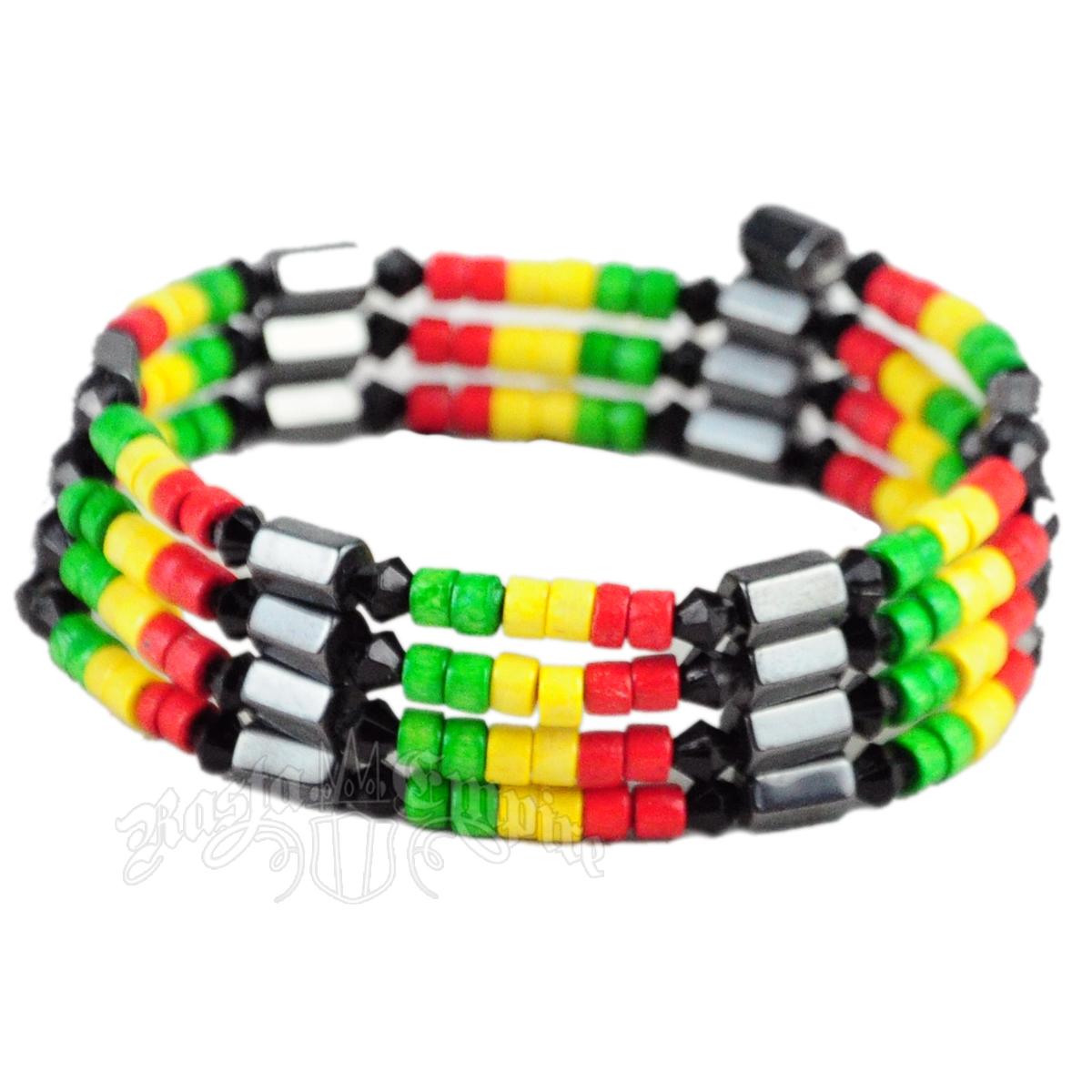 Rasta Hemae Magnetic Wrap Bracelet