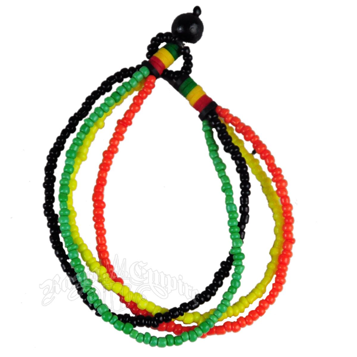 rasta strand bead bracelet rastaempire