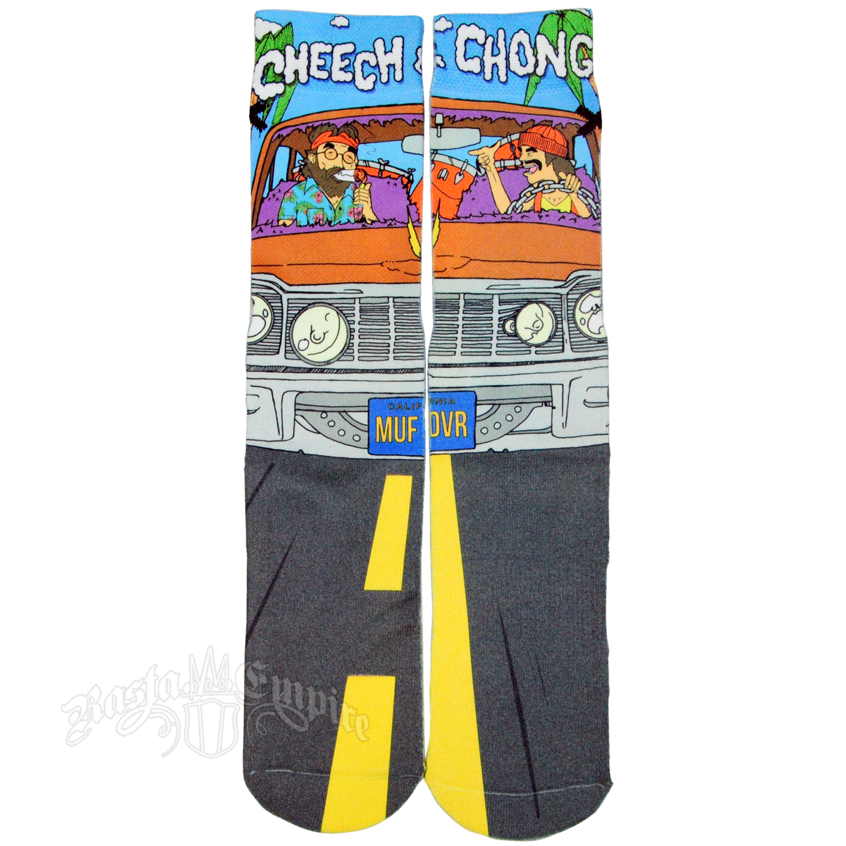 Jamaican sandals shoes - Cheech And Chong Up In Smoke Socks