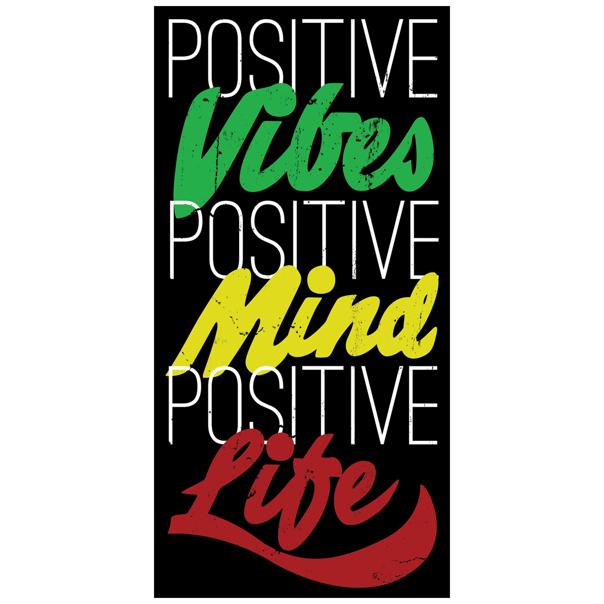 Rastaempire positive life black sticker