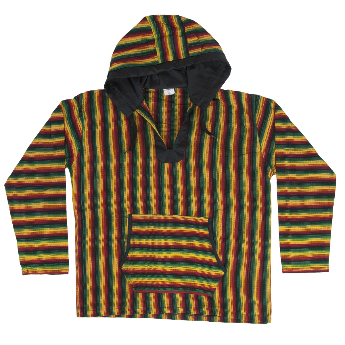 Rasta and Reggae Striped Baja Hoodie
