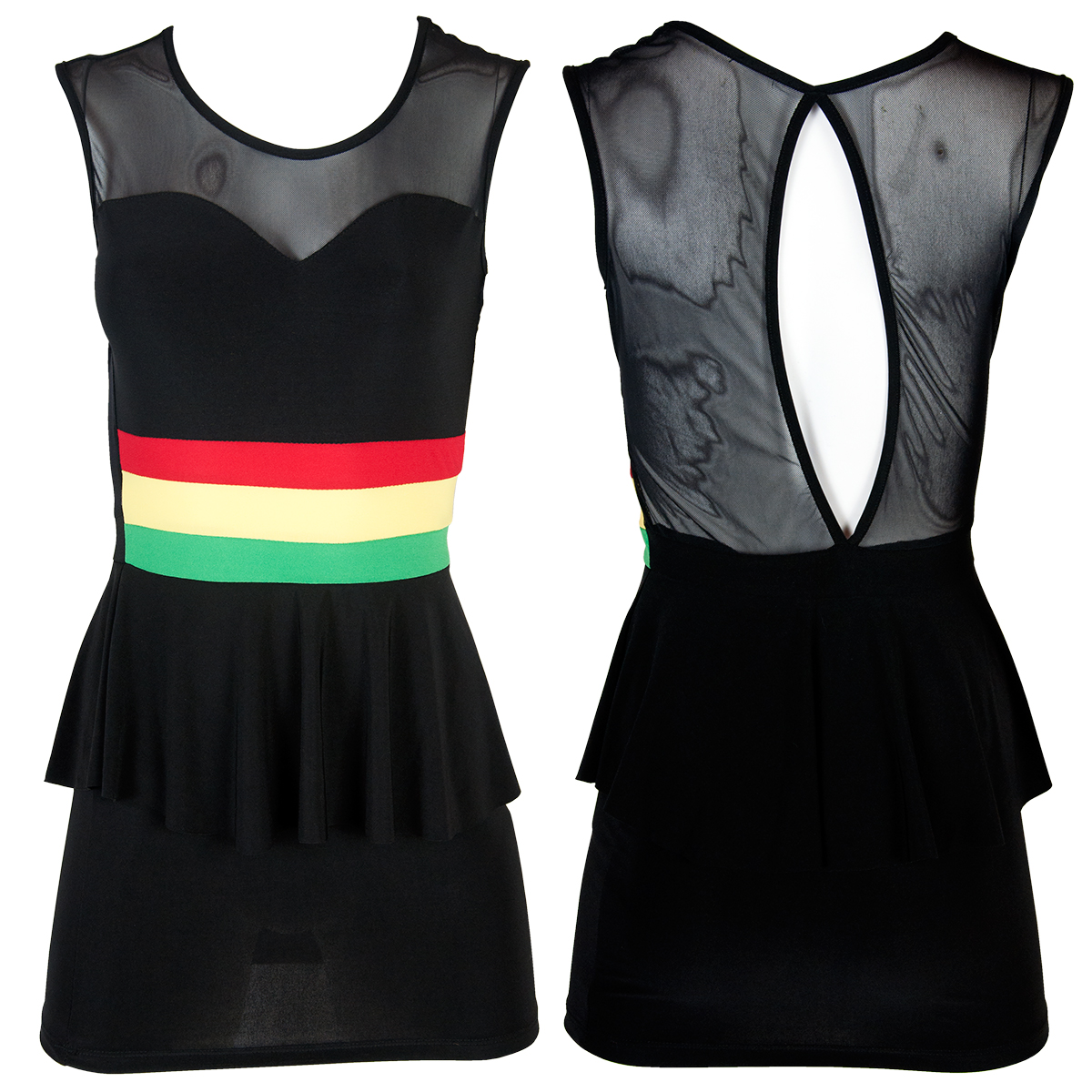 Rasta and Reggae Peplum Dress