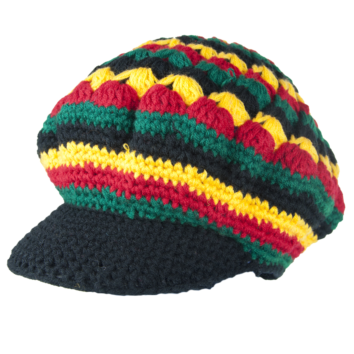 Knitting Patterns For Rasta Hats : Exodus Rasta Wool Knit Brim Hat RastaEmpire.com