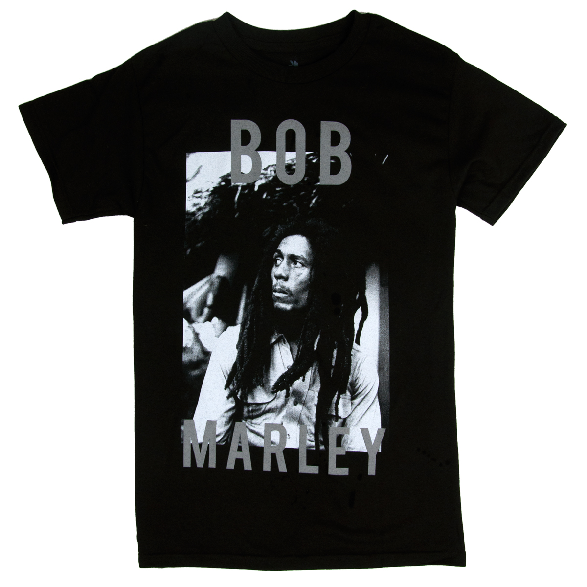 Bob Marley B&W Stare Black T-Shirt – Men's