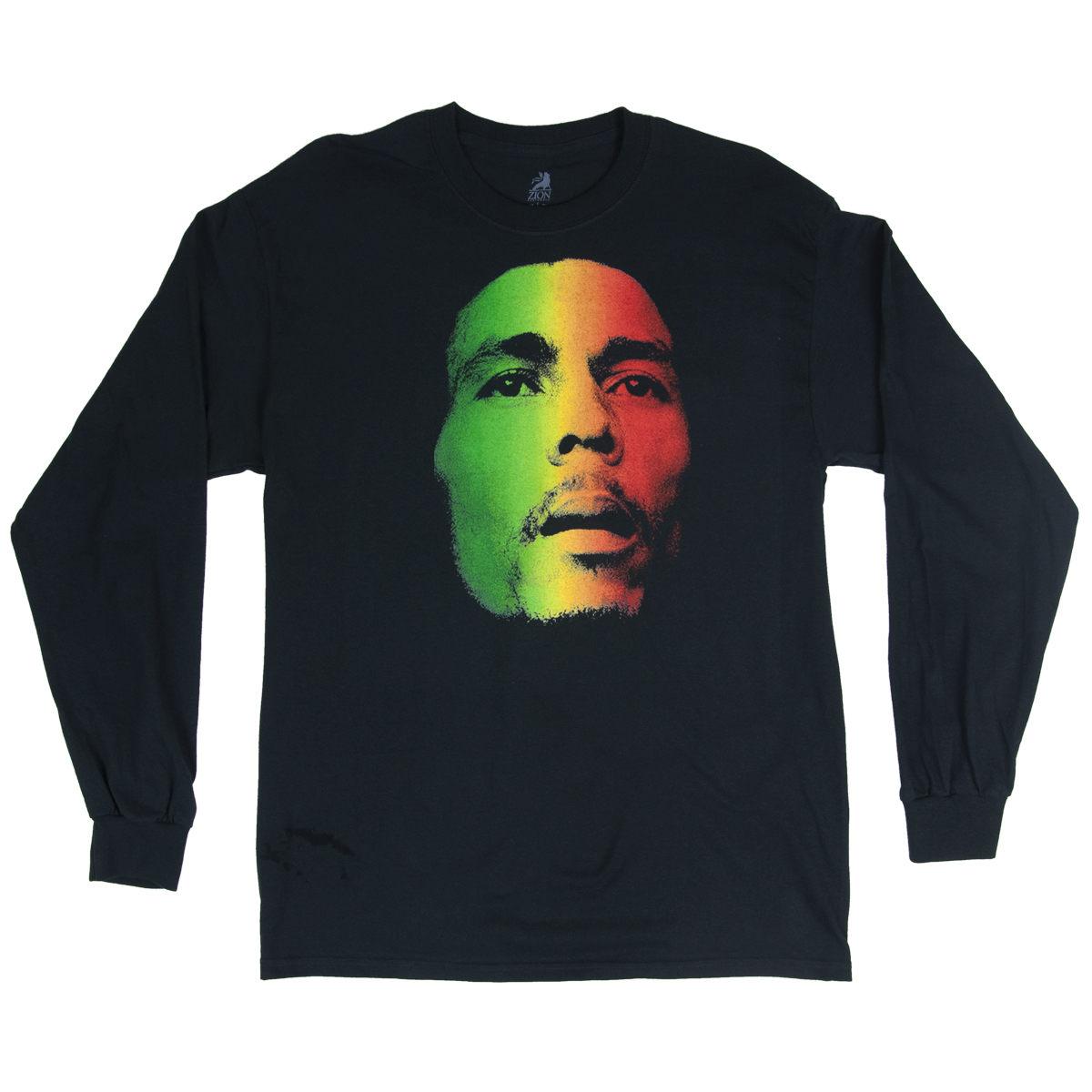 Bob Marley Face Black Long Sleeve T-Shirt – Men's