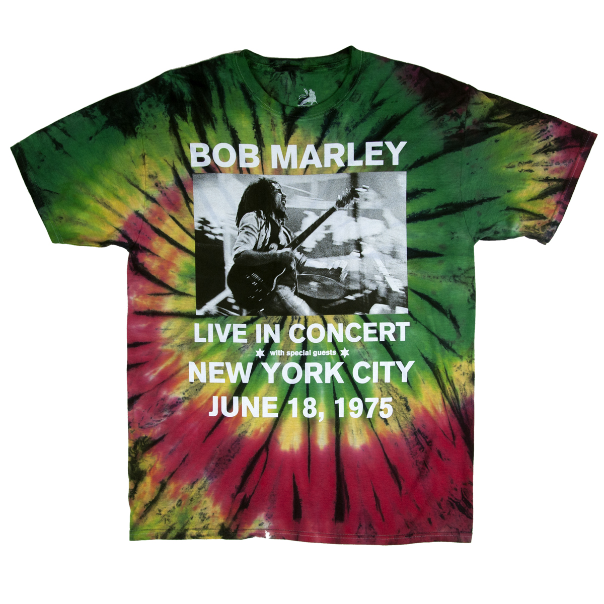 Bob Marley Live In NYC Tie-Dye T-Shirt – Men's