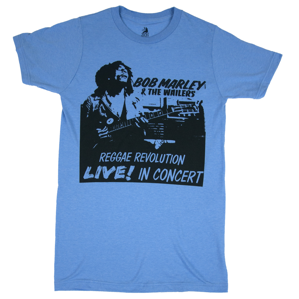 Bob Marley Reggae Revolution Heather Blue T-Shirt – Men's