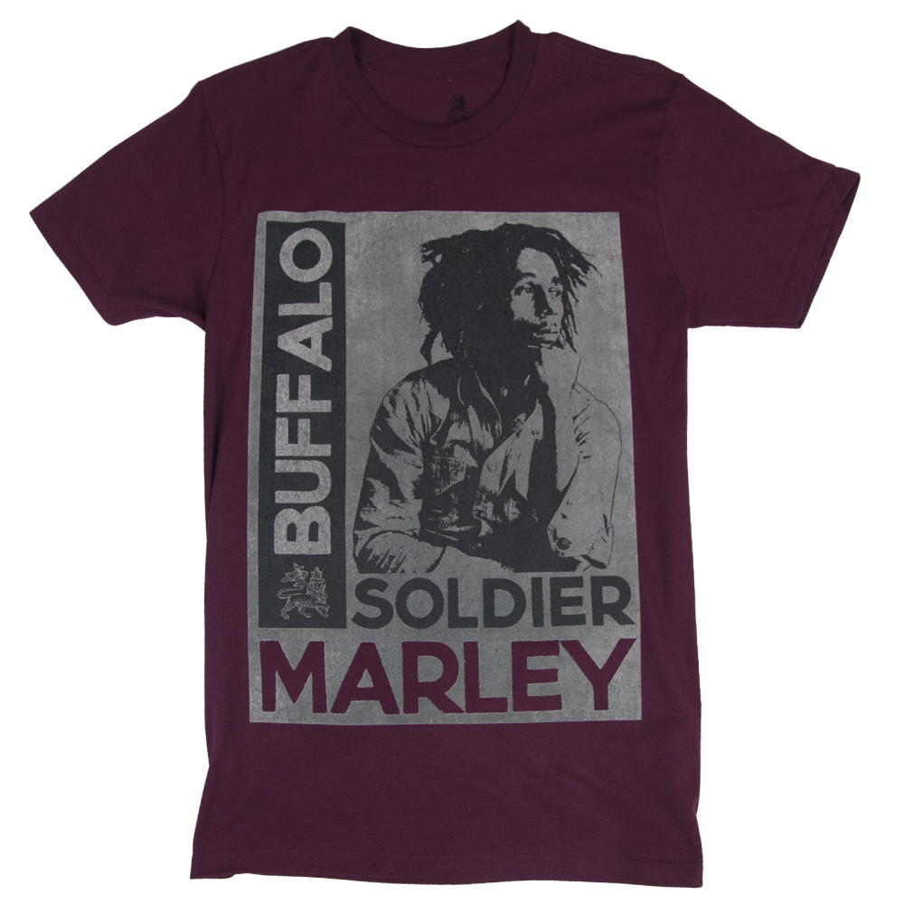 Bob Marley Buffalo Soldier Maroon T-Shirt – Men's