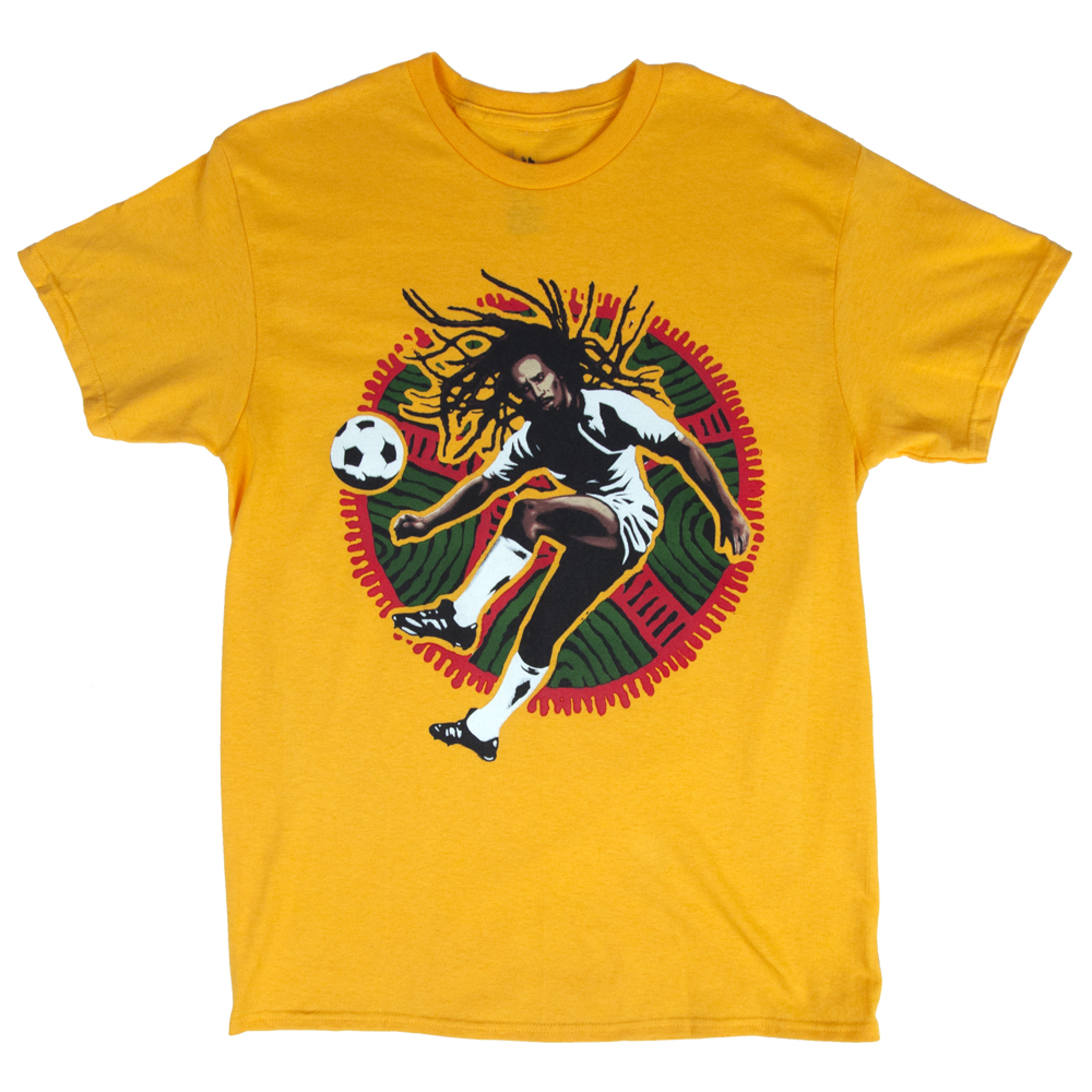 Bob Marley Soccer Kick Yellow T-Shirt - Men's