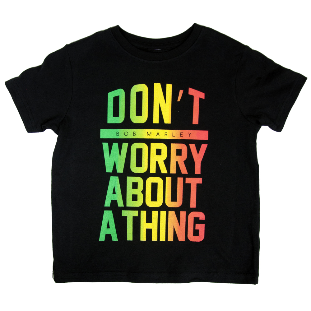 Bob Marley Don't Worry Black T-Shirt - Toddler's