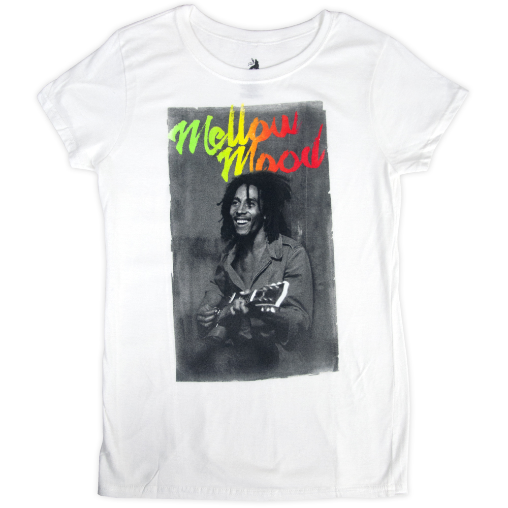 Bob Marley Mellow Mood White T-Shirt - Women's