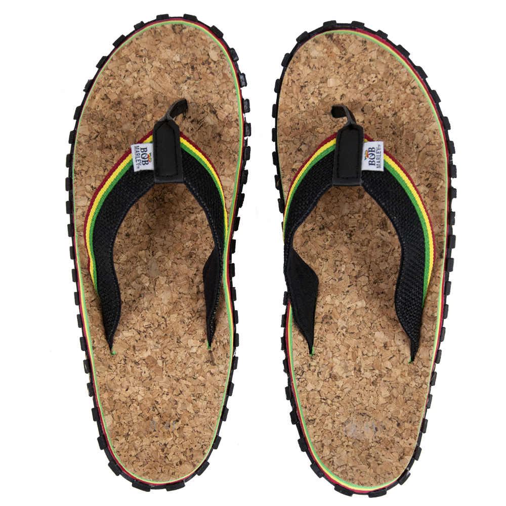 Bob Marley Cork Black Sandals - Men's