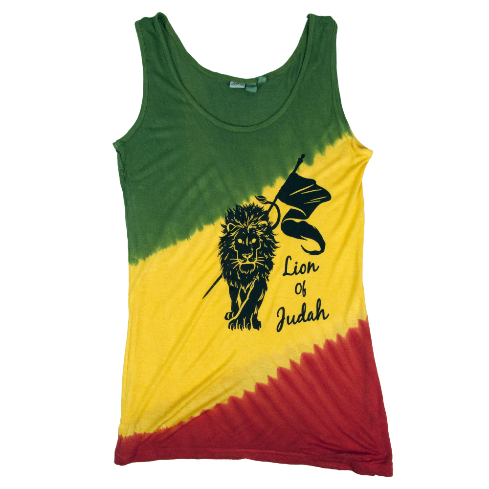 Rasta Lion of Judah Tie-Dye Tank Top - Women's