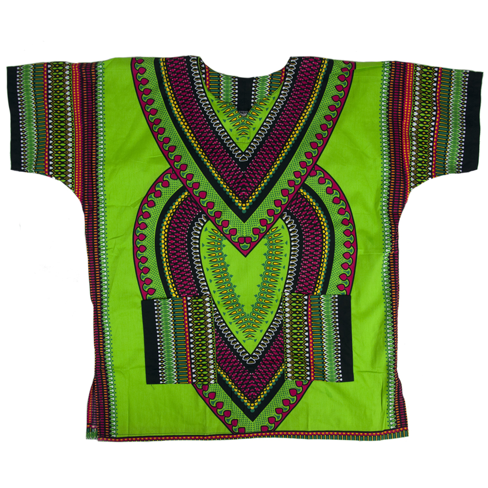 Lime Green Heart Of Africa Dashiki