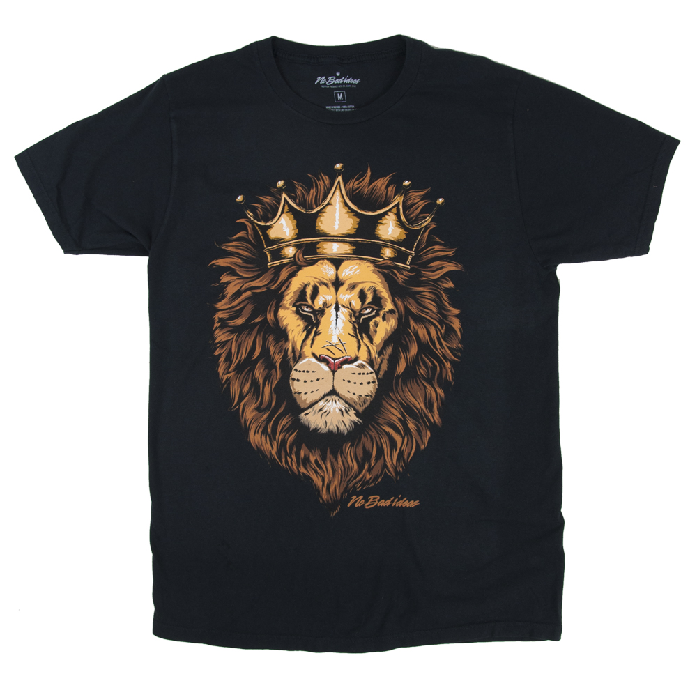 Sire Lion Black T-Shirt - Men's
