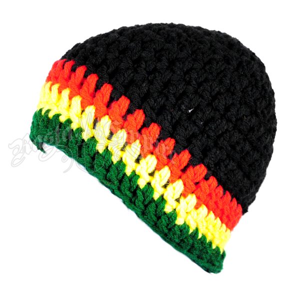 Rasta Crochet Beanie Hat Black Magnificent Rasta Hat Crochet Pattern