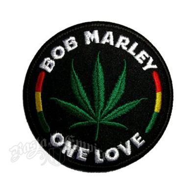 Bob Marley One Love Leaf Round Patch @ RastaEmpire.com