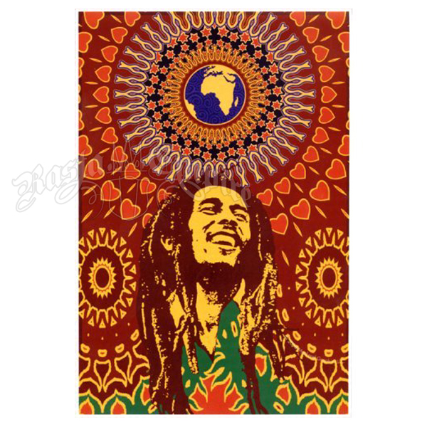 "Bob Marley Peace on Earth Tapestry 60"" x 90"""