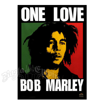 "Bob Marley One Love Tapestry 55"" x 43"""