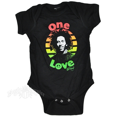 Bob Marley One Love Peace Creeper - Black