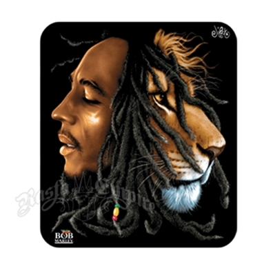 Bob Marley & Lion Profiles Sticker