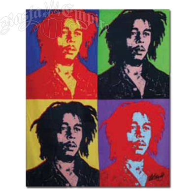 Bob Marley Pop Art Fleece Throw