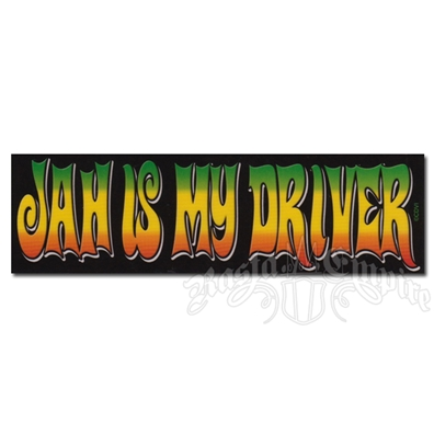 Jah Is My Driver Rasta Sticker