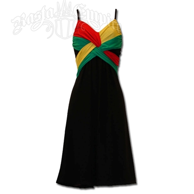 Rasta and Reggae Short Spaghetti Strap Dress