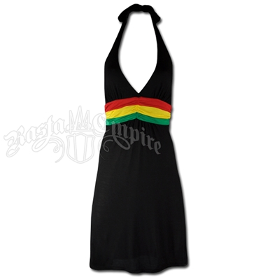 Rasta and Reggae Short Halter Dress