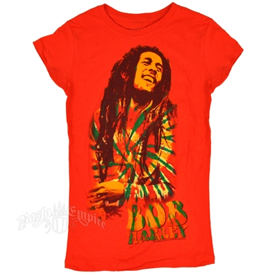Bob Marley - Rasta Tam Womens T-Shirt in Asphalt