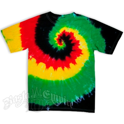 Rasta Spiral Tie Dyed Short Sleeve T-Shirt - Youth's