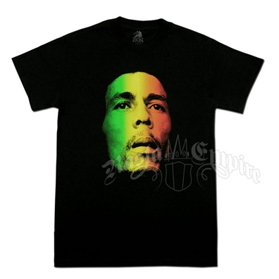 Bob Marley Face and Redemption Black T-Shirt - Men's