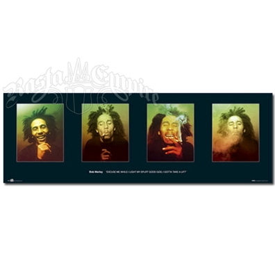 "Bob Marley Faces Poster 36"" x 12"""