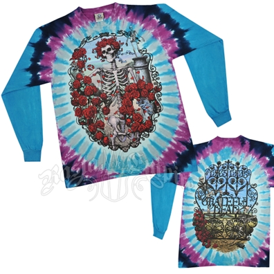 Grateful Dead 30th Anniversary Tie Dye Long Sleeve T-Shirt - Men's