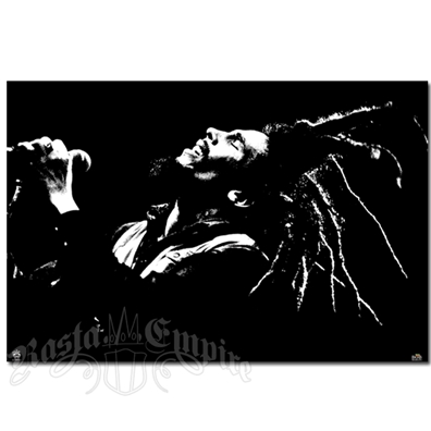 "Bob Marley In Concert B & W Poster 24"" x 36"""